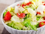 Рецепта Салата Айсберг с чери домати и авокадо